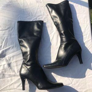 Vintage Nine West Square Toe Boots